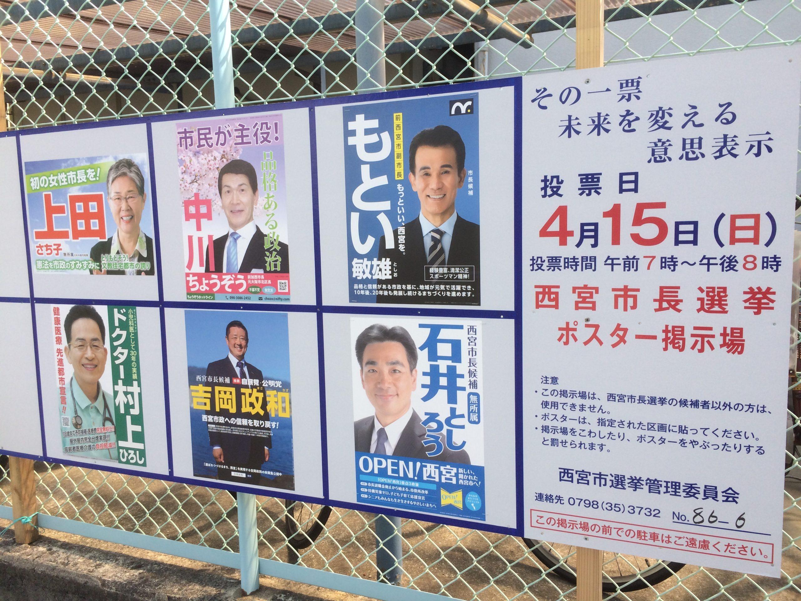 西宮市長選挙結果
